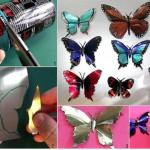 Diy motýlek z plechovky