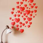 Valentýnská 3D srdíčka na zeď