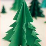 3D vánoční stromeček z papíru