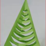 3D vánoční stromeček z papíru 2