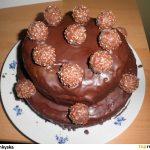 Ferrero Rocher čokoládový dort