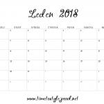 Měsíční plánovač 2018